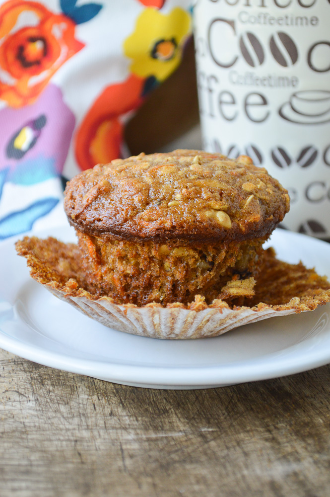 One Bowl Apple Carrot Muffins