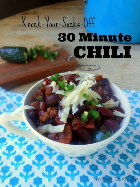 Knock Your Socks Off 30-Minute Chili