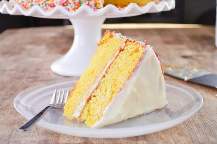 A slice of Citrus Cake