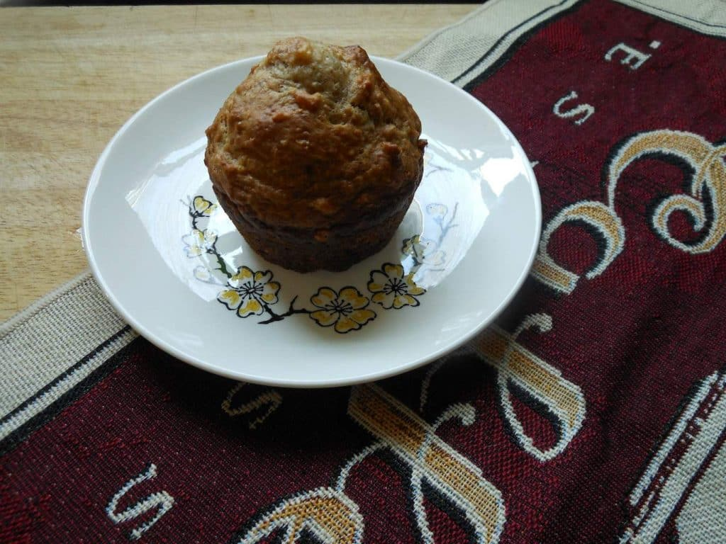 Cranberry Coconut Banana Oat Muffins