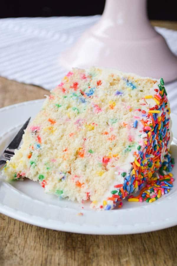 Funfetti Cake made from scratch
