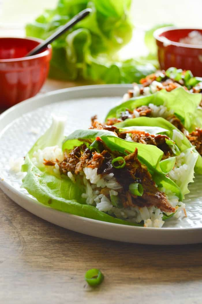 Chinese Pork Lettuce Wraps - Sugar Dish Me