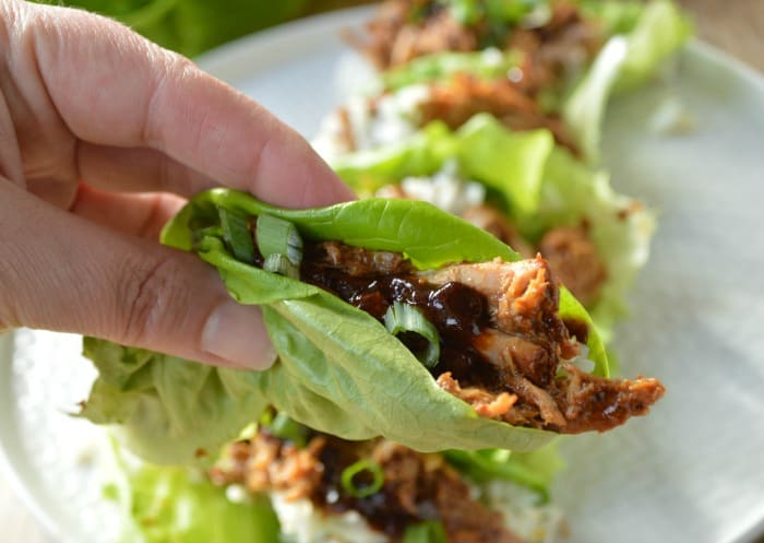 Slow Cooker Chinese BBQ Pork Lettuce Wrap Recipe