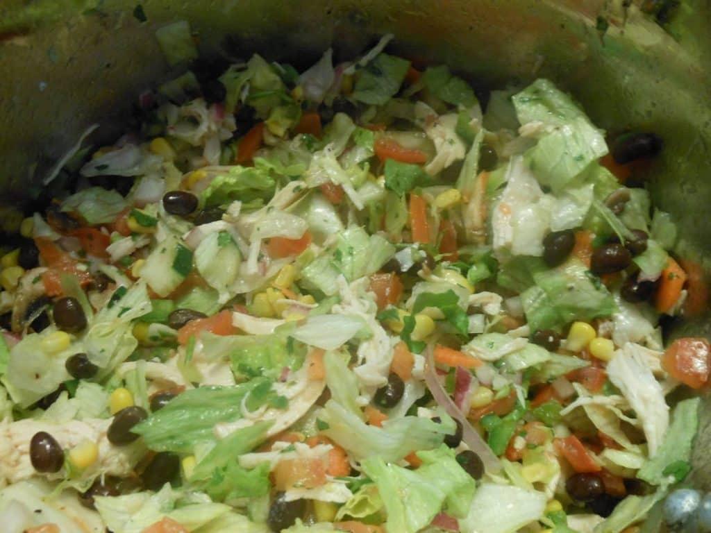chopped chicken taco salad recipe