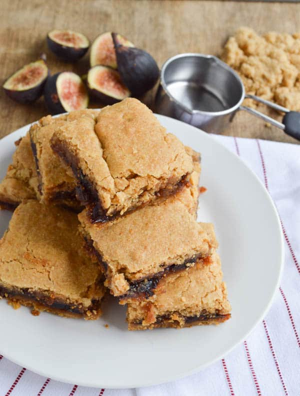 Fresh Fig Newtons piled on a plate to share with friends!