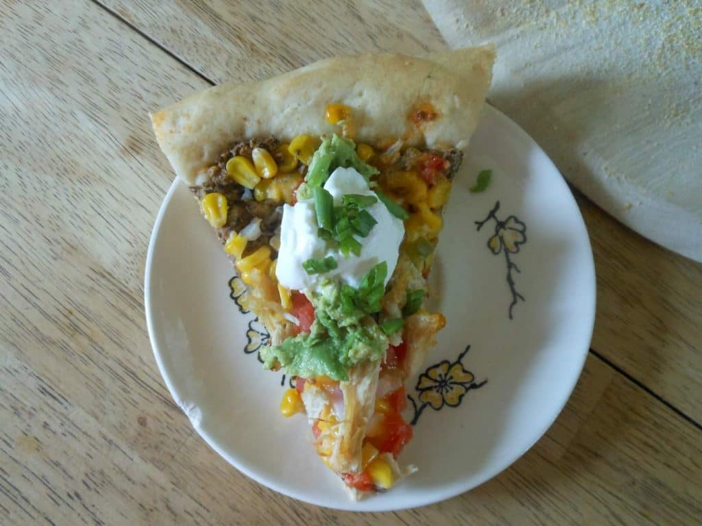 southwest style pizza with black bean sauce