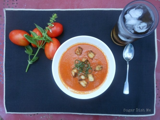 Roasted Tomato Basil Soup