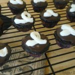 frosting on cooled chocolate ganache