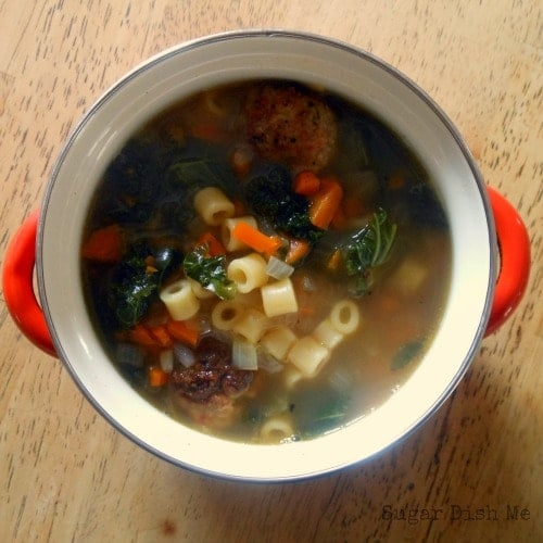 Italian Wedding Soup With Turkey Sausage And Kale