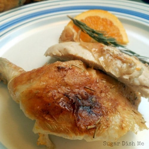 Butter Roasted Chicken with Orange and Rosemary