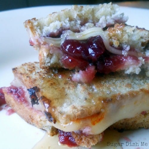 Cranberry Honey Grilled Cheese Sandwiches