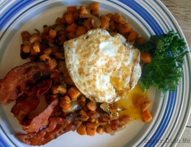 Easy Bacon Sweet Potato Hash