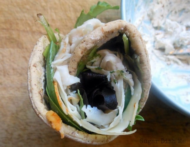 Garlic Herb Cream Cheese Spread and Herby Turkey