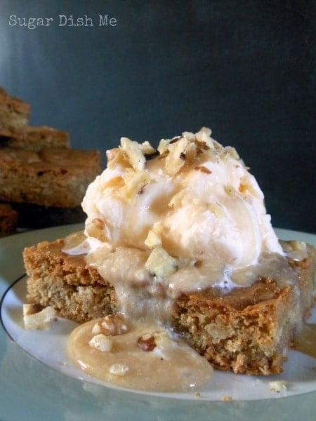 Maple Walnut Blondies - Sugar Dish Me
