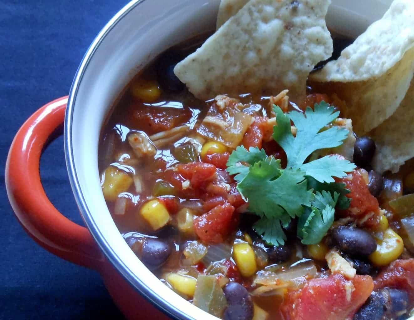 Slow Cooker Chicken Tortilla Soup - Sugar Dish Me