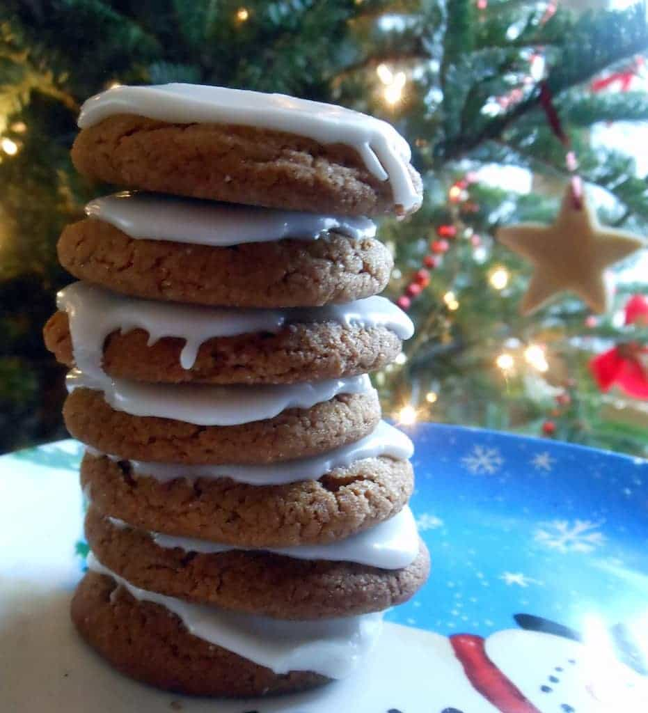 Chewy Ginger Cookies With Sweet Orange Glaze