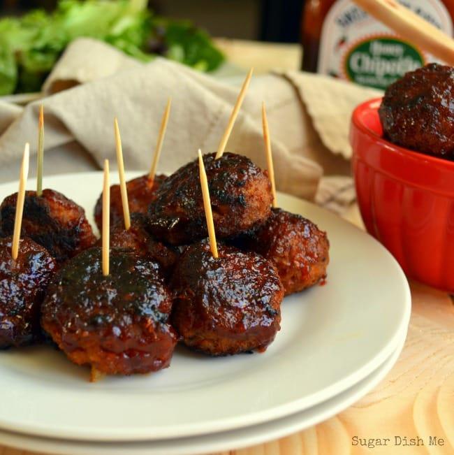 BBQ Turkey Meatballs - Sugar Dish Me