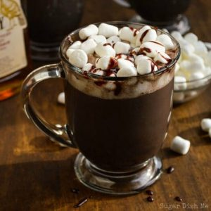 Homemade Hot Chocolate Recipe Spiked with Bourbon