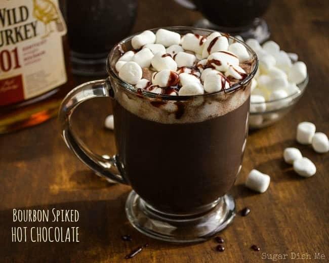 Bourbon Spiked Hot Chocolate - Sugar Dish Me