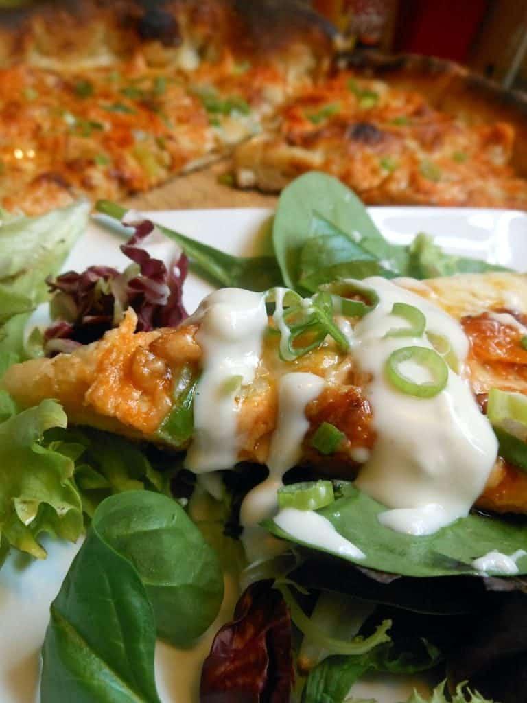 Buffalo Chicken Skillet Pizza