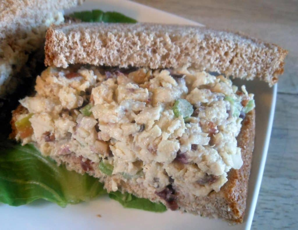 Cranberry Apple Almond Chicken Salad