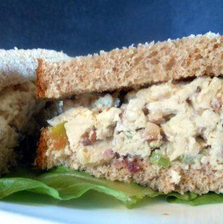 Cranberry Apple Almond Chicken Salad