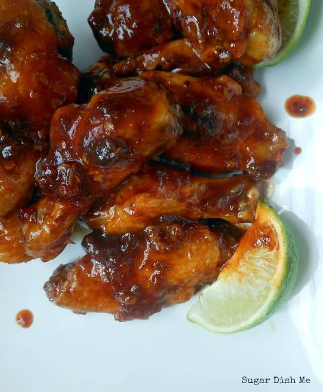 Baked Wings Recipe with Honey Chipotle Sauce