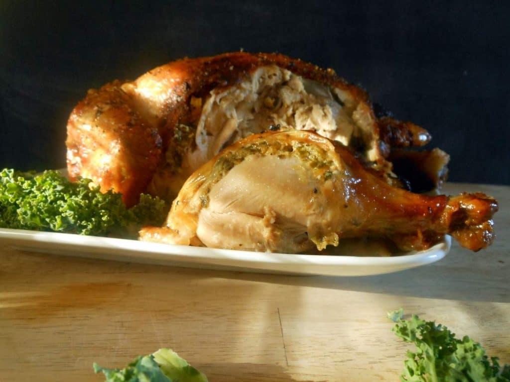 Spinach Dip Stuffed Chicken