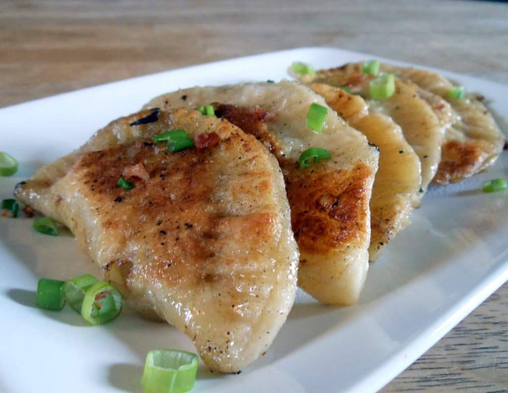 bacon & blue cheese pierogies