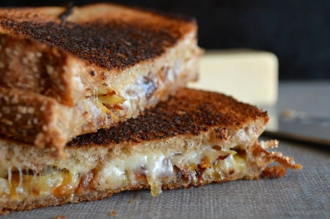 Caramelized Onion Grilled Cheese Sandwiches
