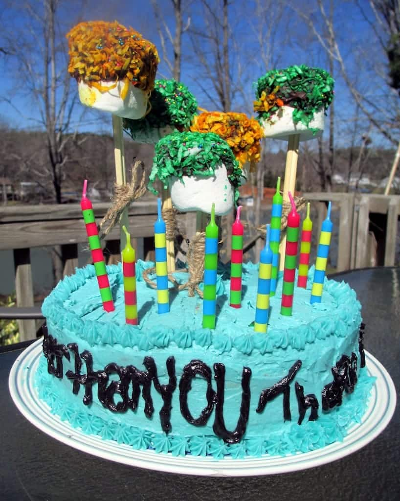 Marvelous Birthday Cake With Cotton Candy Frosting Sugar Dish Me Funny Birthday Cards Online Hendilapandamsfinfo