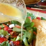 Honey Mustard Vinaigrette Salad with Goat Cheese Pastries