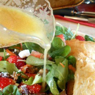 Surprise Recipe Swap- Honey Mustard Vinaigrette Salad with Goat Cheese Pastries