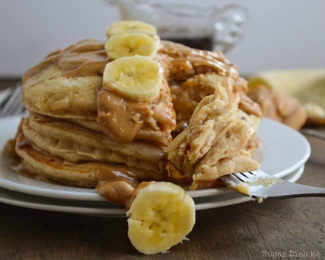Banana Pancakes with Peanut Butter and Whole Wheat
