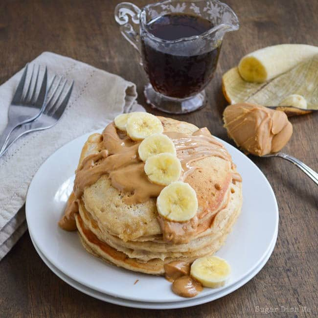 Whole Wheat Peanut Butter Banana Pancakes