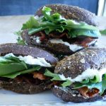 BLT Sliders with Cucumber Dill Sandwich Spread
