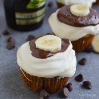 Bailey's Irish Banana Cupcakes