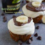 Bailey's Irish Banana Cupcakes