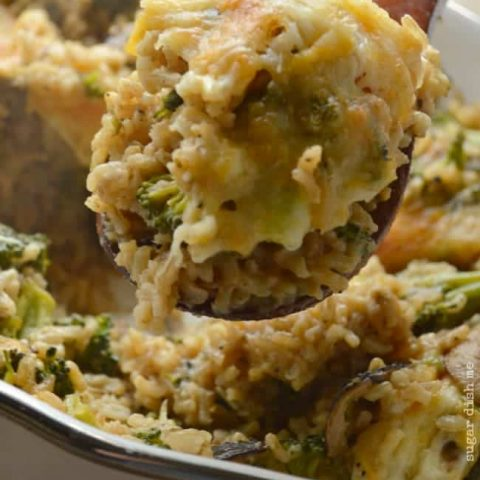 Lightened Up Broccoli Rice Casserole