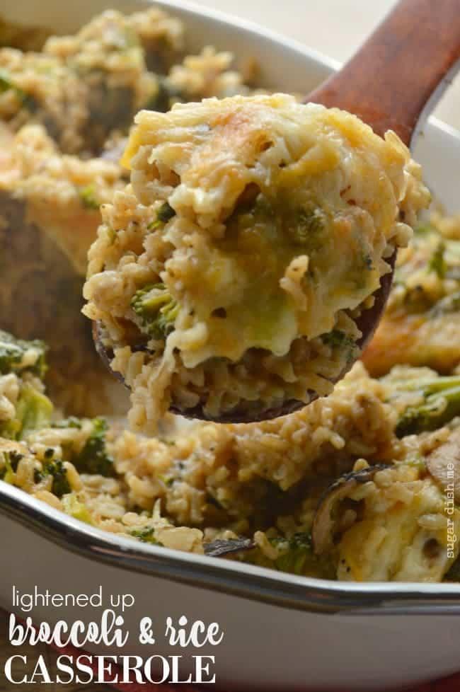 Lightened Up Broccoli Rice Casserole