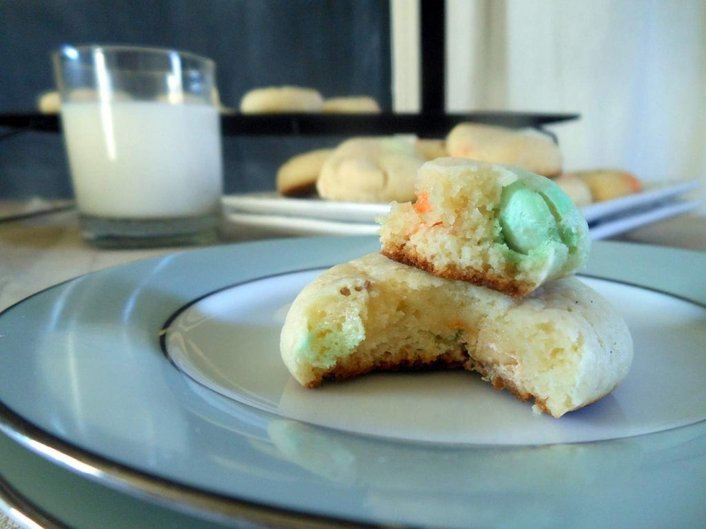 Cream Cheese Cookies with Carrot Cake M & M's
