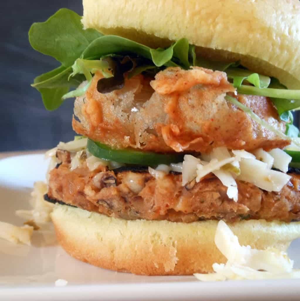 Black-Eyed Pea Burgers Recipe — Dishmaps