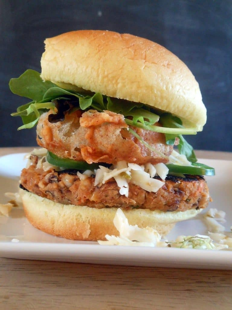 Hot Mess Black Eyed Pea Burger