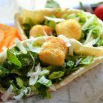 Caesar Salad Pitas with Light Caesar Dressing