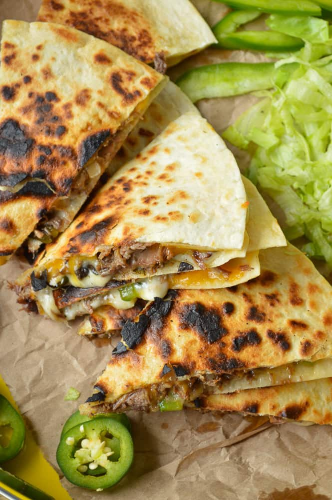 Slow Cooker Philly Cheese Steak Quesadilla Recipe