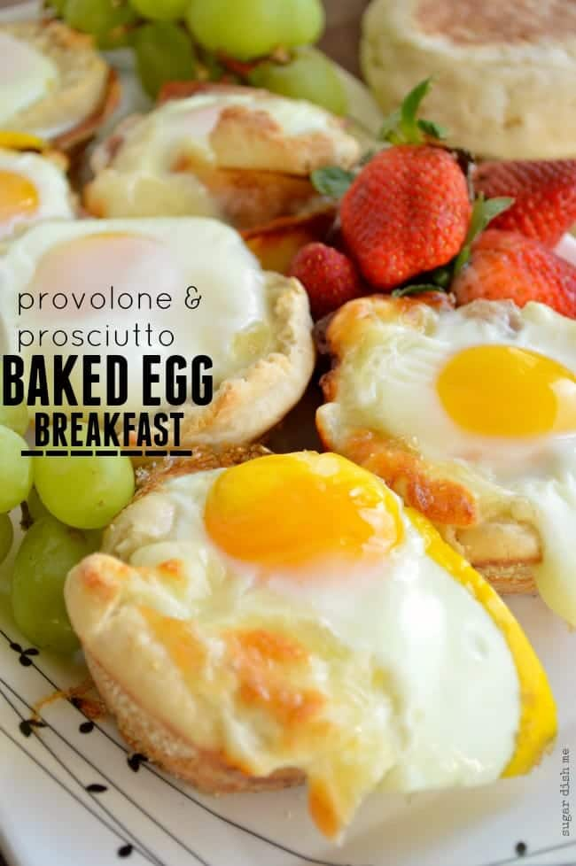Prosciutto and Provolone Baked Egg Breakfast
