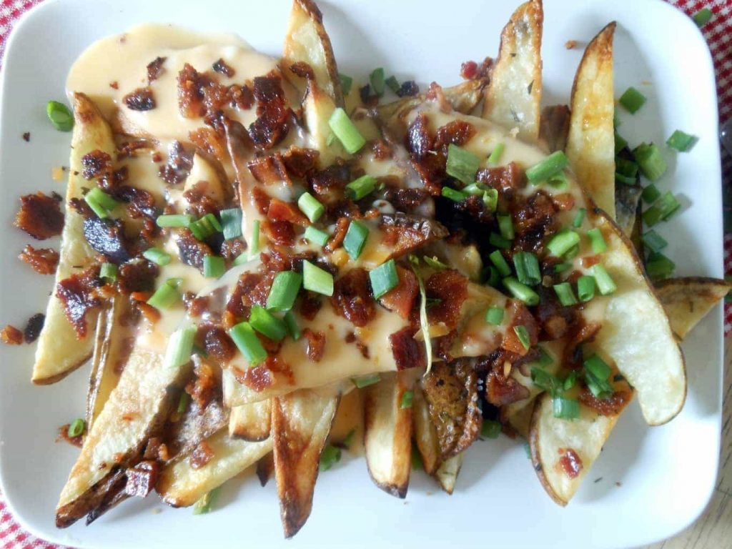 Lightened Up Loaded Bacon Cheese Fries