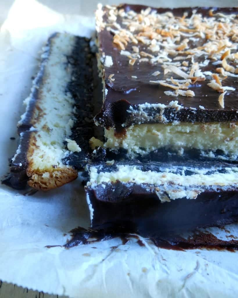 Nanaimo Cheesecake Bars- Surprise Recipe Swap - Sugar Dish Me