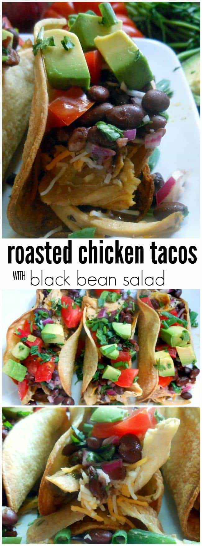 Roasted Chicken Tacos Recipe with Black Bean Salad
