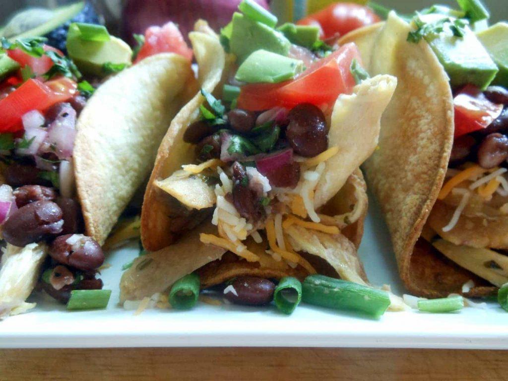 Roasted Cilantro Chicken Tacos with Black Bean Salsa